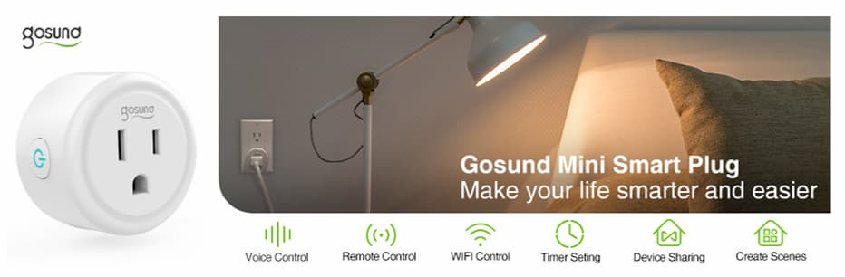 Mini enchufe WiFi inteligente Gosund