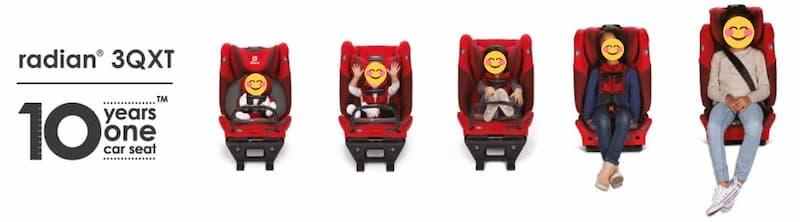 Asiento convertible 4 en 1 marca Diono 2020 Radian 3QXT 2021