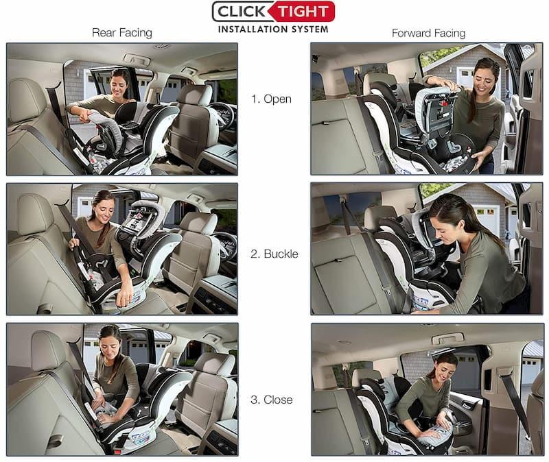 Asiento de coche convertible marca Britax Advocate ClickTight