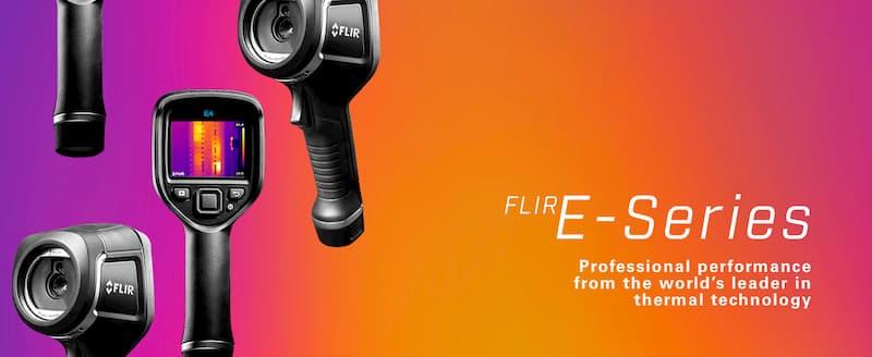 Flir E8-XT Cámara infrarroja MSX Wi-Fi de temperatura extendida para diagnóstico eléctrico industrial y de edificios