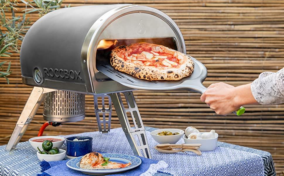 Horno de pizza marca Gozney Roccbox